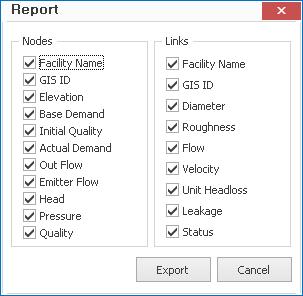 Update] Report export function has been added  – GISpipe